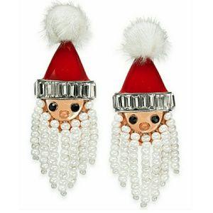 🆕️INC Bead & Pom-Pom Santa Drop Earrings